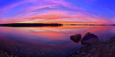 Manipulation Photograph - Pocomoonshine Sunset 2 Panorama by Bill Caldwell -        ABeautifulSky Photography