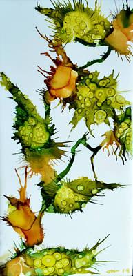 Encaustic Painting - Pods by Jennifer  Creech