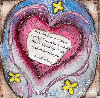 Soaring Mixed Media - Poem Of Love by Marlena Colino Leach