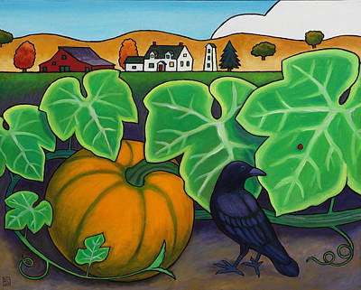 Poes Crow Print by Stacey Neumiller