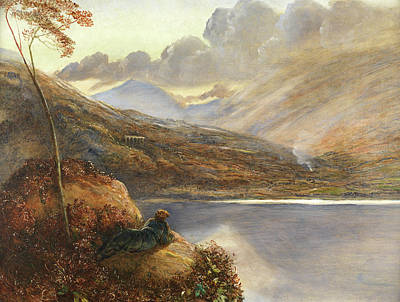 Poet's Rest Place Print by James Smetham