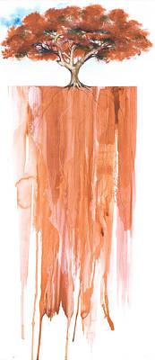 Poinciana Tree Red Print by Anthony Burks Sr