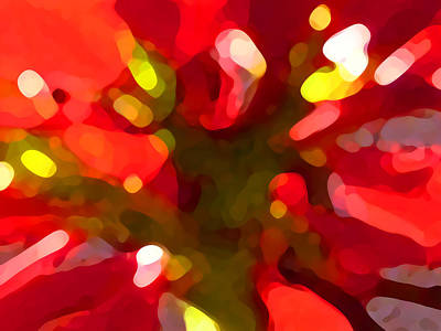 Abstract Pattern Painting - Poinsetta by Amy Vangsgard