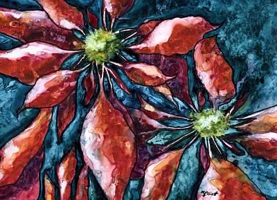 Poinsettia Painting - Poinsettia 2 by Marsha Elliott