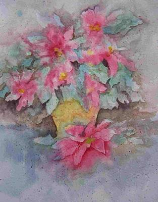 Painting - Poinsettias II by Sandy Collier