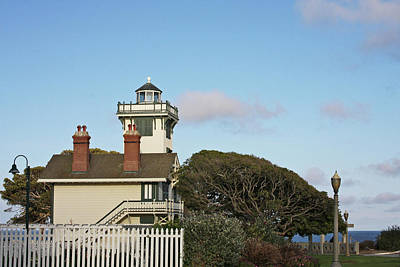 Smoke Photograph - Point Fermin Light - An Elegant Victorian Style Lighthouse In Ca by Christine Till