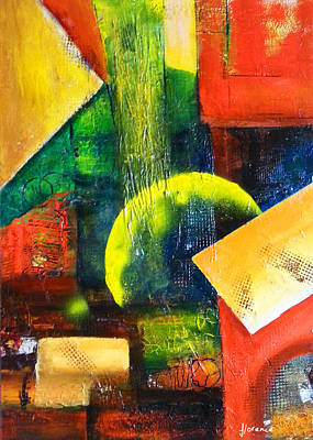 Abstract Painting - Point In Time by Florentina Maria Popescu
