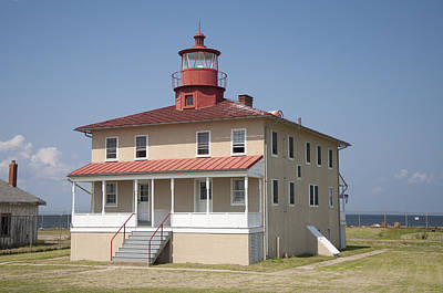 Beach Photograph - Point Lookout Lighthouse-scotland St. Marys County Maryland by Bill Cannon