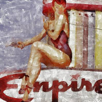Show Girl Painting - Point Of Despair by Edward Fielding