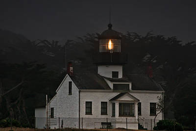 Point Pinos Lighthouse Ca Print by Christine Till