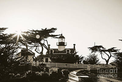 Point Pinos Lighthouse Print by Scott Pellegrin