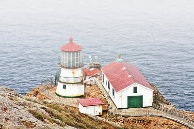 Edge Photograph - Point Reyes Lighthouse At Point Reyes National Seashore Ca by Christine Till
