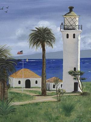 Frier Painting - Point Vicente Lighthouse by Jamie Frier