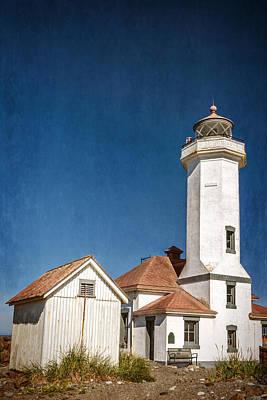 Window Bench Photograph - Point Wilson Lighthouse by Joan Carroll