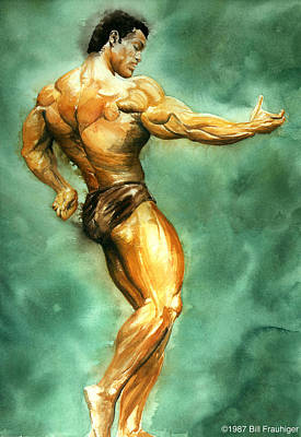 Bodybuilding Painting - Poise And Strength by Bill Frauhiger