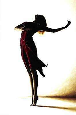 Long Hair Painting - Poise In Silhouette by Richard Young