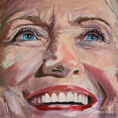 Hillary Clinton Painting - Poised For The Presidency Hillary Clinton Portrait by Robert Yaeger