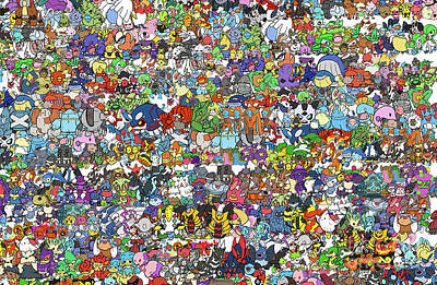 Pokemon  Print by Mark Ashkenazi