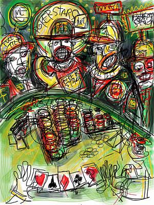 Hunter S. Thompson Digital Art - Poker Night by Russell Pierce