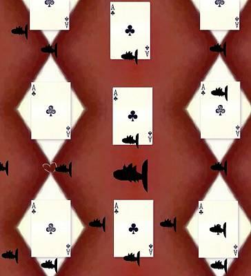 Sharks Mixed Media - Poker Sharks by Pepita Selles