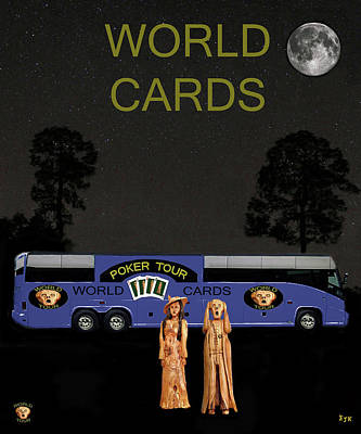 Greetings Card Mixed Media - Poker World Cards Tour by Eric Kempson