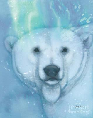 Bear Painting - Arctic Bear, Polar B-r-r-r by Tracy Herrmann