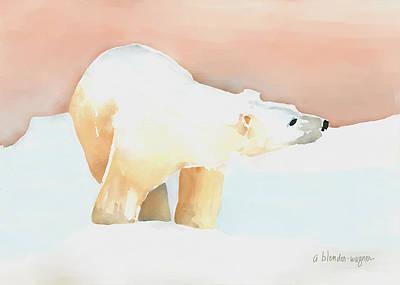 Polar Bear Print by Arline Wagner