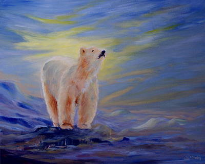 Polar Bear Print by Joanne Smoley