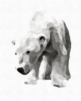 Bear Digital Art - Polar Bear Painting by Edward Fielding