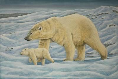Dreamcatcher Painting - Polar Bear by Sid Ball