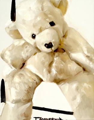 Bears Painting - Polar Bear Stuffed Animal by Tommervik