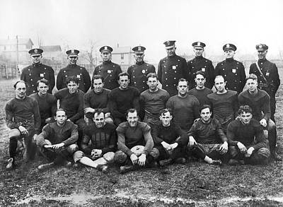 Police Team To Play Prisoners Print by Underwood Archives