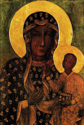 Holly Mother Painting - Black Madonna Of Czestochowa, Our Lady Of Czestochowa  by Magdalena Walulik