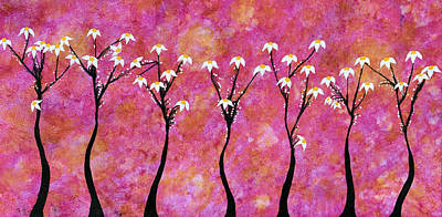 Blossoming Painting - Polite by Sumit Mehndiratta
