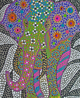 Ganesha Painting - Polka Dot Ganesha by Vijay Sharon Govender