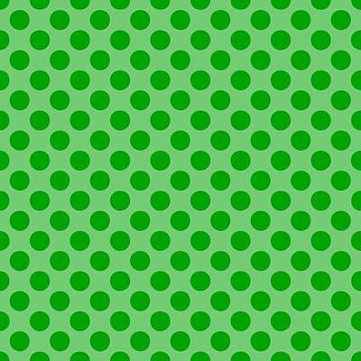 20x20 Digital Art - Polka Dots - 2-toned 09c-p0109 by Custom Home Fashions