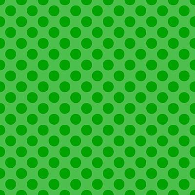 20x20 Digital Art - Polka Dots - 2-toned 09d-p0109 by Custom Home Fashions