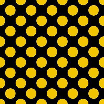 20x20 Digital Art - Polka Dots - Black 05-p0109 Background by Custom Home Fashions