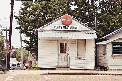 Coca-cola Sign Photograph - Polk's Meat Market by Scott Pellegrin
