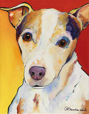 Small Dogs Painting - Polly by Pat Saunders-White