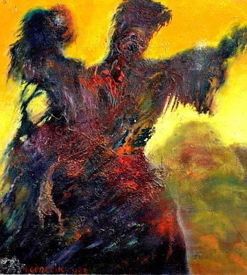 Rocks Love Too Painting - Polyphemus Hurling Boulders by Henryk Gorecki