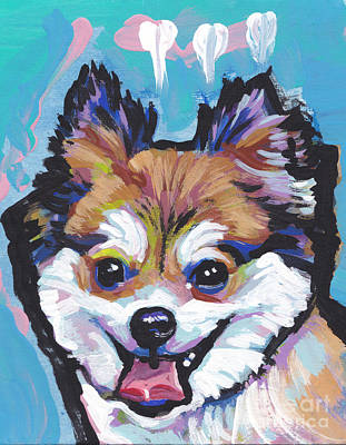 Pomeranian Painting - Pom Pommie by Lea S