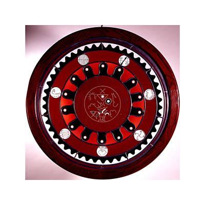 Glass Art Painting - Pomba Gira Mandala by Richard Spaulding