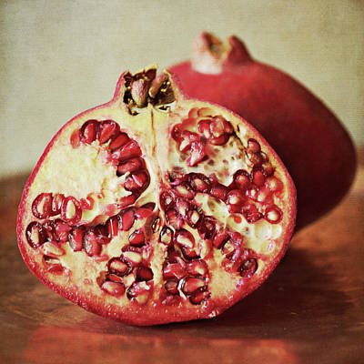 Tray Photograph - Pomegranate by Pamela N. Martin