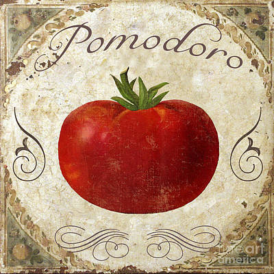 Tomato Painting - Pomodoro Tomato Italian Kitchen by Mindy Sommers