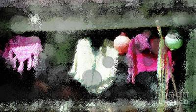 Tassel Digital Art - Poncho Porch by Anita Faye