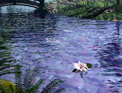 Koi Digital Art - Pond by Cynthia Decker