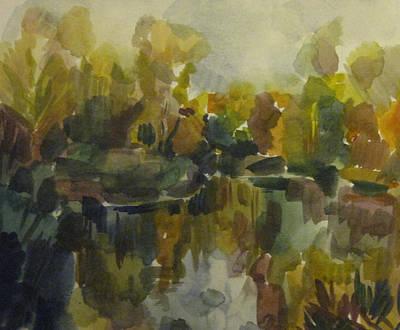 Pond Print by Darya Gavroff