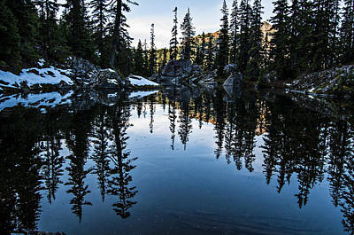 Pond On The Pacific Crest Trail Print by Pelo Blanco Photo