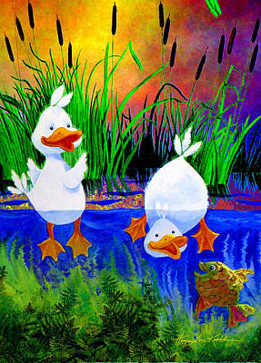 Dunk Painting - Pond Pals by Hanne Lore Koehler